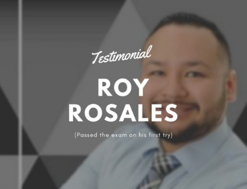Testimonial: Roy Rosales (Passed the exam on his first try)