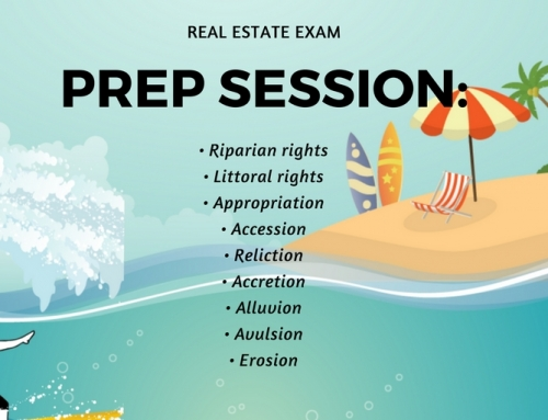 California Real Estate Exam Prep Session Video: Water Rights and Land, Accession, Accretion, Alluvion, Avulsion