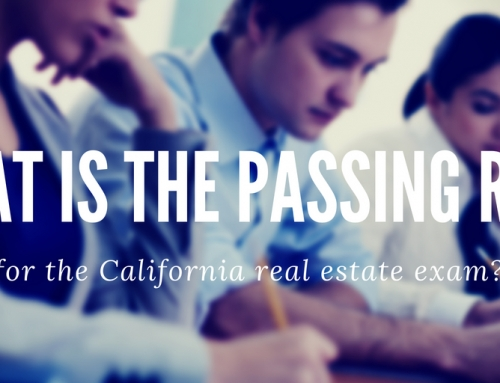 What is the passing rate for the California real estate exam?
